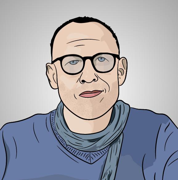 Portrait d'Emmanuel Correia réalisé par Mickaël Petit - graphiste professionnel
