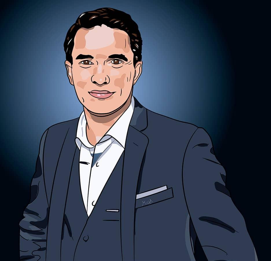 Portrait de Fabien Lévêque réalisé par Mickaël Petit - graphiste professionnel