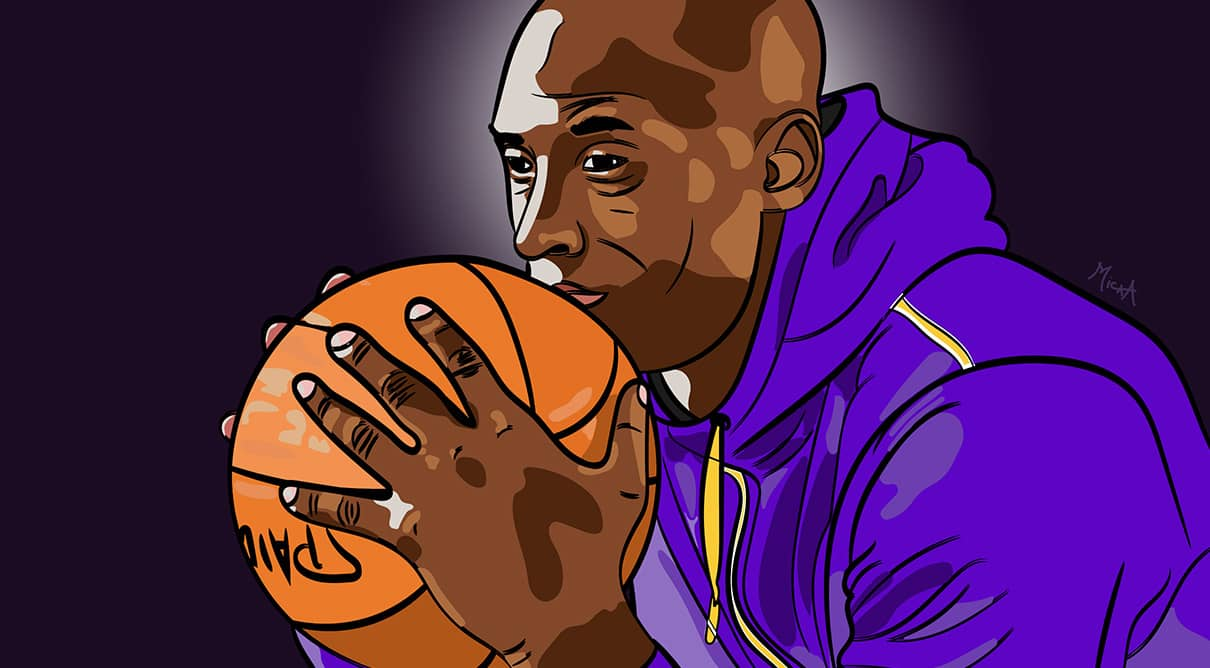 Portrait de Kobe Bryant réalisé par Mickaël Petit - graphiste professionnel