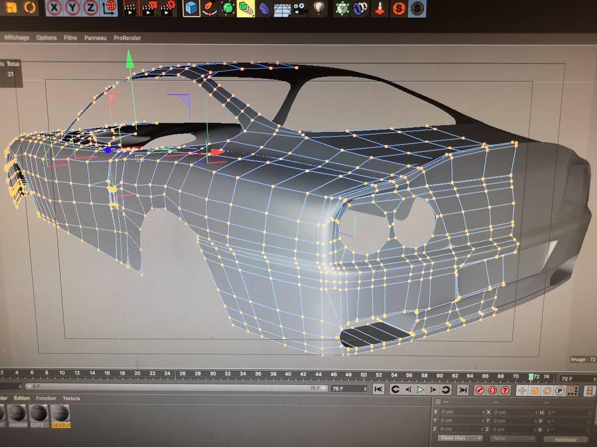 Mickaël Petit rélaise des modelages en 3D