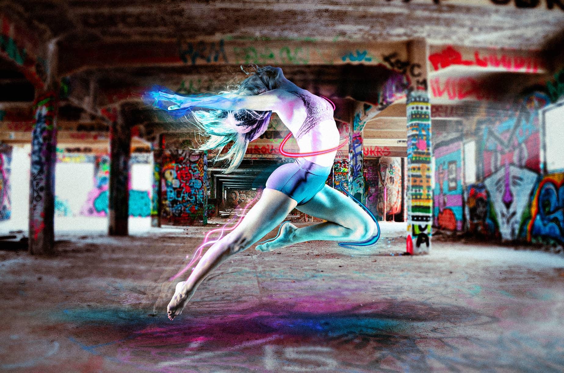 Création Photoshop Alors on danse en couleur de Mickaël Petit